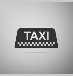 taxi car roof sign icon on grey background vector image