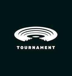 Tournament arena logo design vector