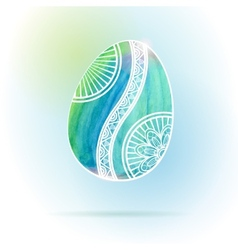 Watercolor Easter Egg vector image