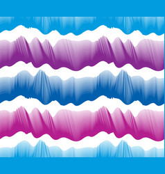Waves seamless pattern water runny curve lines vector