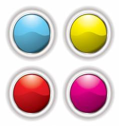 white bevel button vector image vector image
