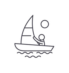 yachting line icon concept yachting linear vector image