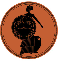 Zodiac in the style of ancient greece cancer girl vector