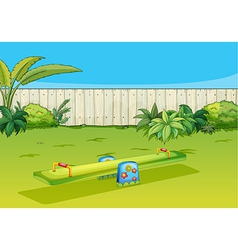 A sea-saw playing equipment vector image