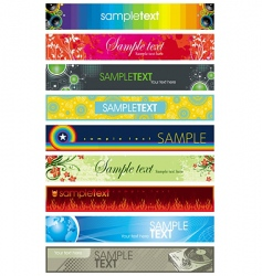 collection of colorful different banners vector image vector image