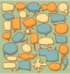 text balloon set vector image