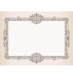 Vintage frame Decorated antique ornaments royal vector image vector image