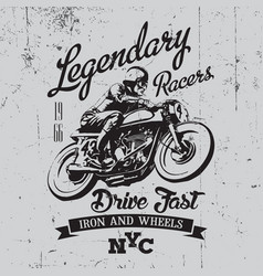 legendary racers poster vector image