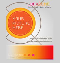 magazine cover template design in orange theme vector image vector image