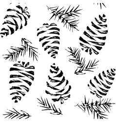 Pine cones seamless pattern Christmas gift vector image vector image