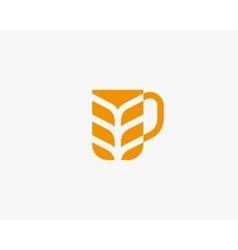 Stylized mug of beer shape idea creative concept vector