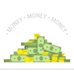 Big pile of money vector image