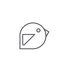 bird message symbol tweet thin line icon linear vector image