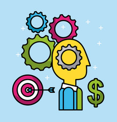 business people finance investment success economy vector image