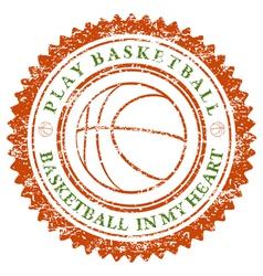 Play Basketball vector image