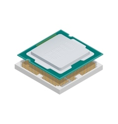 Processor isometric detailed icon vector image
