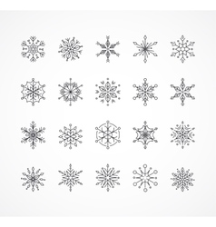 Snowlakes set geometric Christmas pattern vector image vector image