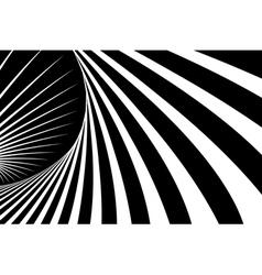 Abstract op art background vector image vector image
