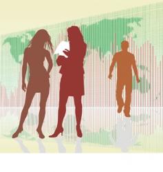 businessmen silhouette vector image vector image