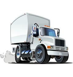 Cartoon delivery cargo truck vector image vector image
