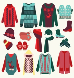 clothing collection vector image vector image