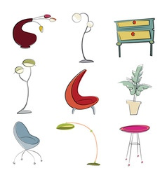 furniture design vector image vector image