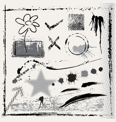grunge decorations vector image