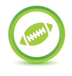 Rugby ball volumetric icon vector image