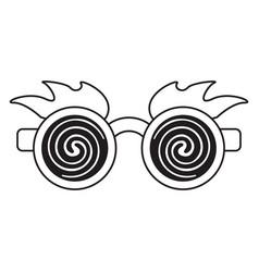 April fools day crazy glasses thin lin vector
