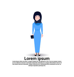 arab woman personage female template for design vector image