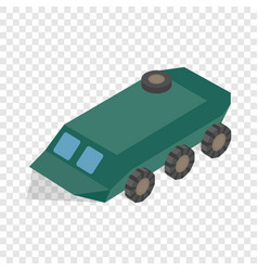 armoured troop carrier wheeled isometric icon vector image