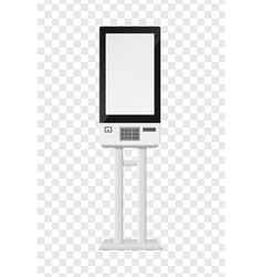 Atm and self-ordering kiosk blank terminal vector