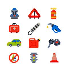 Auto transport motorist icons symbols change vector