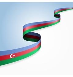Azerbaijani flag background vector image