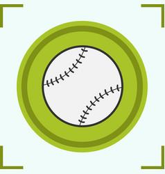 baseball ball color icon vector image
