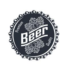 beer badge full monochrome vector image