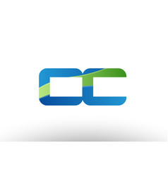 Blue green cc c c alphabet letter logo vector