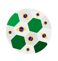 Brazilian Flags on A Brazil 2014 Football vector image