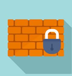brick firewall icon flat style vector image
