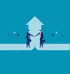 Business deal concept business success vector