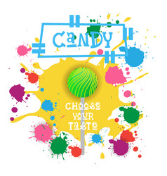 Candy lolly dessert colorful icon choose your vector