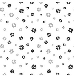 cat and dog footprints seamless pattern pets vector image