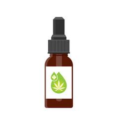Cbd oil hemp products vector