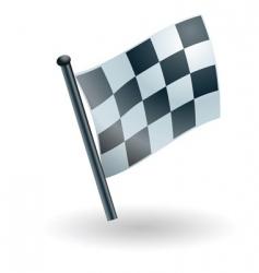 checked checkered flag vector image
