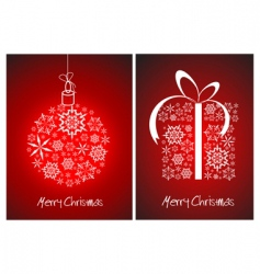 Christmas abstract card vector image