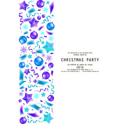 christmas party or dinner invitation vector image