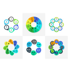 circle infographic chart diagram process vector image