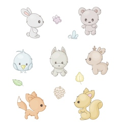 collection of forest animals vector image