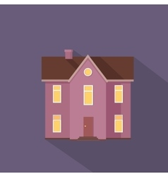 Colorful Residential Cottage in Violet Colors vector