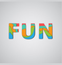 colorful word vector image